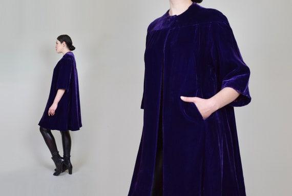 1930s Purple Velvet Coat | 1930s Silk Velvet Coat - image 7