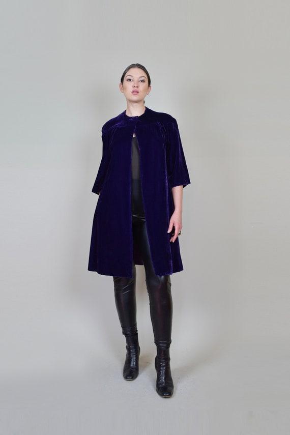 1930s Purple Velvet Coat | 1930s Silk Velvet Coat - image 2