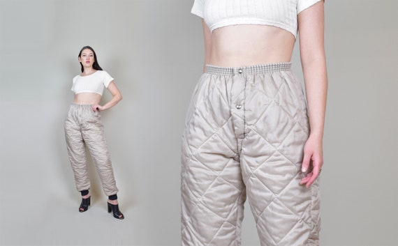 Vintage Military Liner Pants | Army Puffer Pants