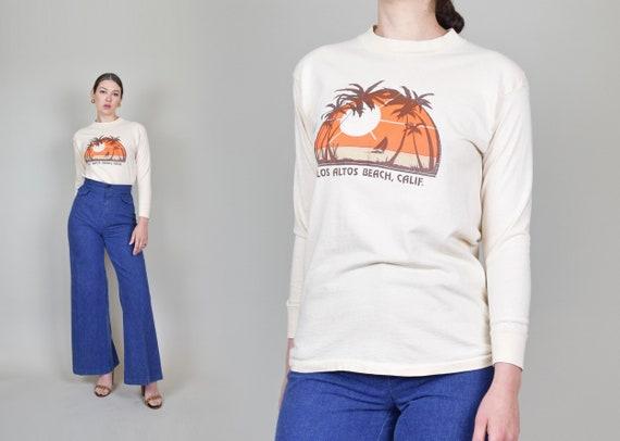1970's Los Altos Beach T Shirt | Vintage 1970's Surf Shirt
