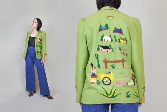 1940's Mexican Souvenir Jacket | Vintage Mexican Tourist Jacket