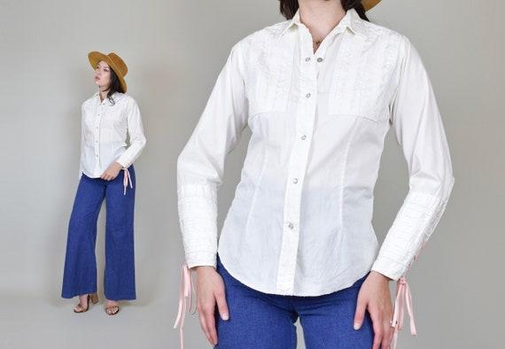 1960's Tem Tex Western Shirt | Vintage Western Ruffle Shirt