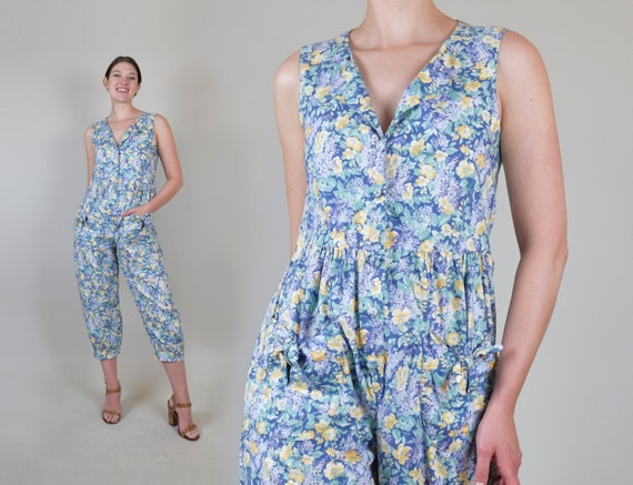 Laura Ashley Floral Jumpsuit   Vintage Laura Ashle