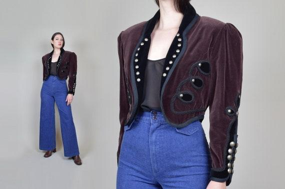 Vintage Western Velvet Crop Jacket | Riders Through the Century Jacket