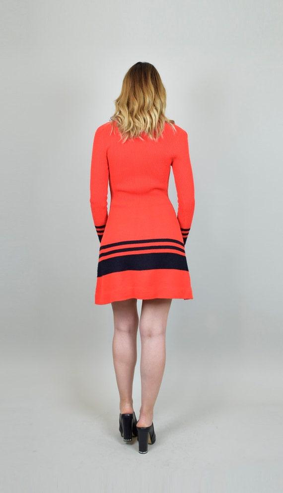 1970's Lace Up Knit Sweater Dress - image 10