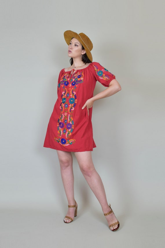 Vintage Embroidered Peasant Dress | Embroidered M… - image 5
