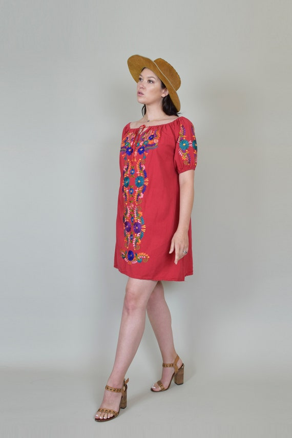 Vintage Embroidered Peasant Dress | Embroidered M… - image 6