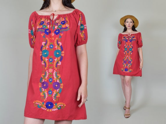 Vintage Embroidered Peasant Dress | Embroidered M… - image 3