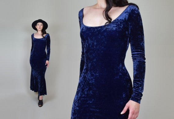 Vintage Betsey Johnson Velvet Dress | 90's Velvet