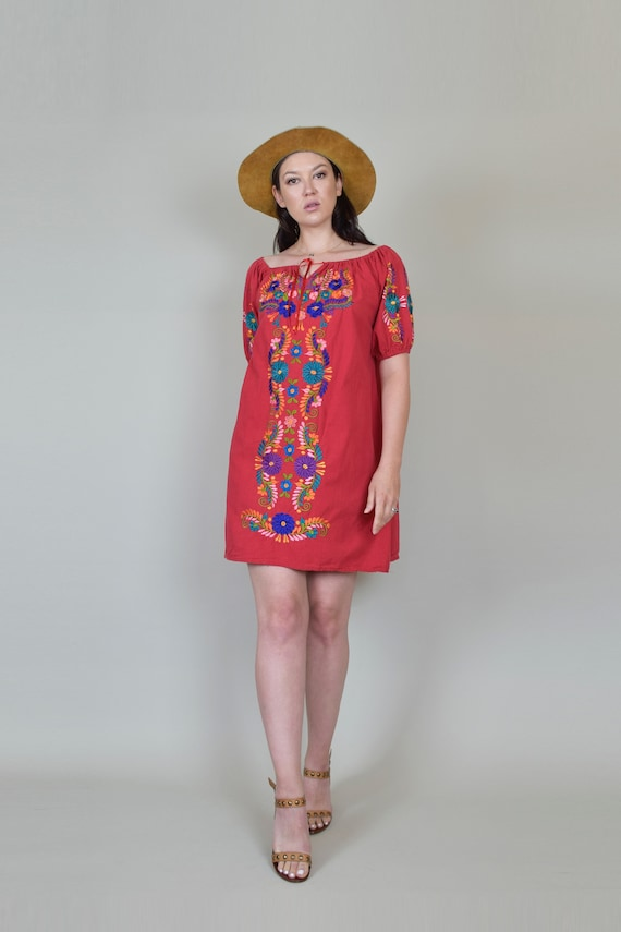 Vintage Embroidered Peasant Dress | Embroidered M… - image 2