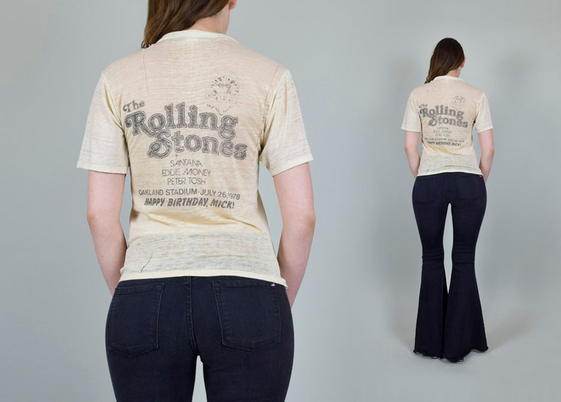 632e7ce804 Rolling Stones 1978 Day on the Green T-Shirt 70 s HAPPY