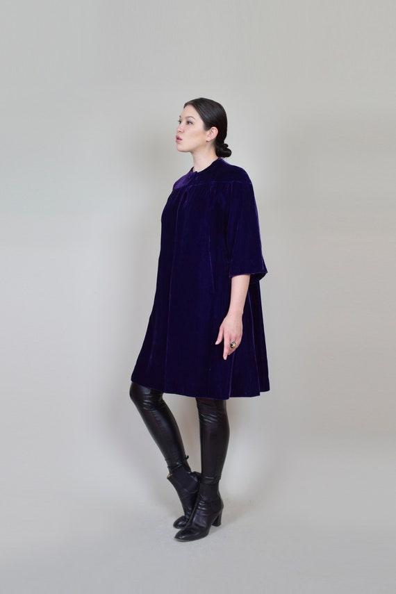 1930s Purple Velvet Coat | 1930s Silk Velvet Coat - image 6