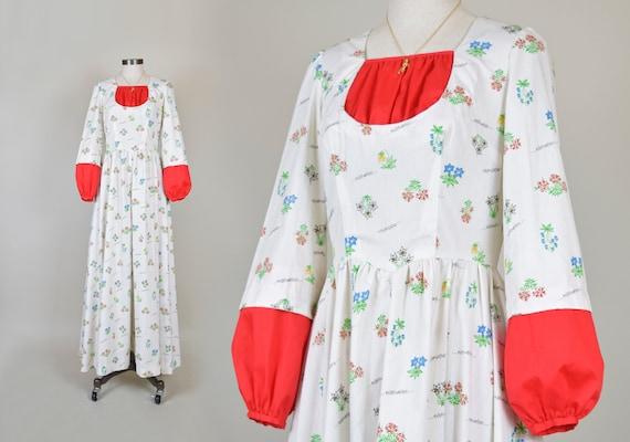 1970's Edelweiss Prairie Dress | Gunne Sax Style D