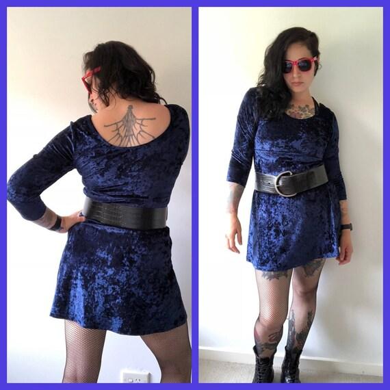 90s Goth Dress, Velvet Dress, Festival Dress, Witc