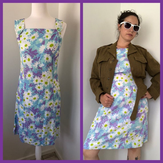 60s Vintage Dress Shaker Square - Bill Sims Floral