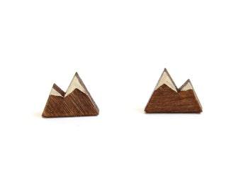 Mountain Stud Earrings, Colorado Earrings, Mountain Earrings, Nature Earrings, New Mexican Earrings