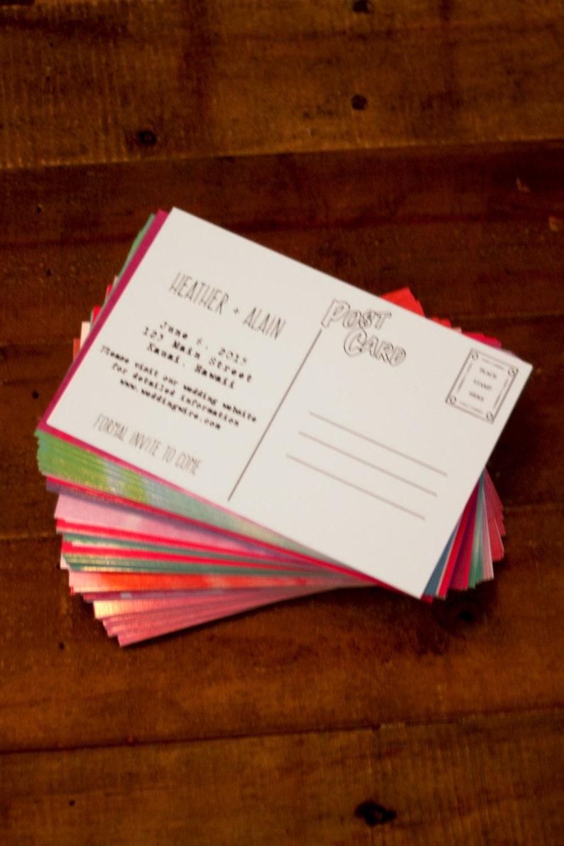 Watercolor Save the Date Wedding Invitation Postcard Hawaii Printable