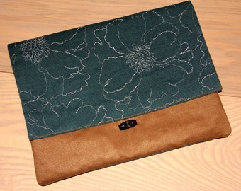 Clutch Purse, Corduroy Suede Clutch,Handmade Clutch, Makeup Pouch, Christmas Gift, Clutch Bag