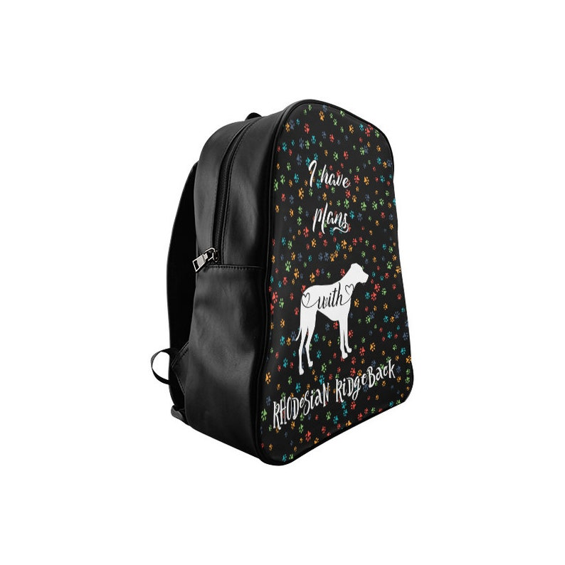 Custom Dog Name Faux PU Leather School bag for African Lion Dog Puppy Lover Gifts Stuff Rhodesian Ridgeback Backpack