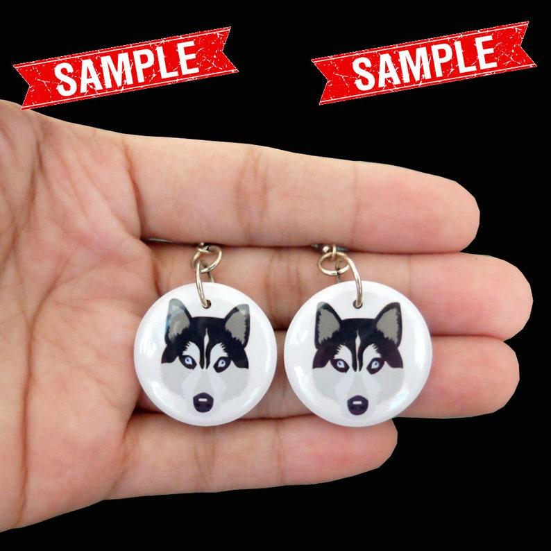 Custom Dog Face Photo Picture Dangle Button Earrings for Girls Women Cairn Lover Gifts Stuff Memorial CAIRN TERRIER EARRINGS