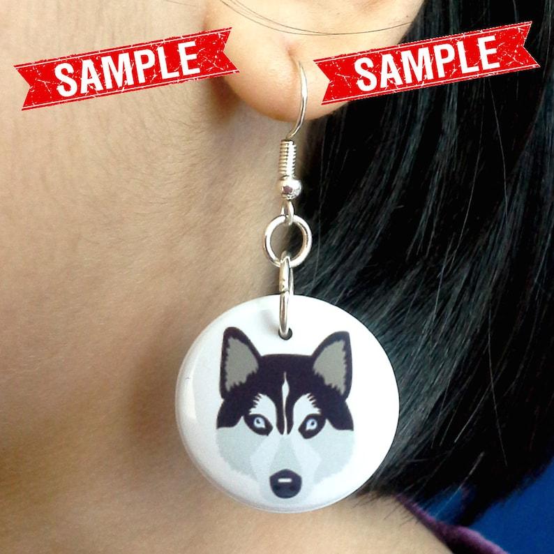 BELGIAN GRIFFON EARRINGS Custom Brussels Griffon Face Photo Picture Dangle Button Earrings for Girls Women Dog Lover Gifts Stuff Memorial