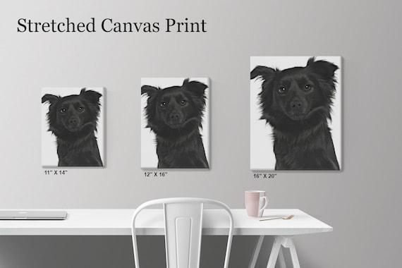 MALTESE CANVAS PRINT Dog Puppy Art Portrait 11 X 14 Framed Wall Home Decor Gift