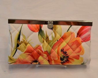 Orange Poppies Clutch Wallet