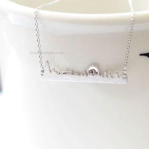 UK jewelry souvenir London London skyline necklace in rose gold city necklace skyline necklace necklace for woman London necklace