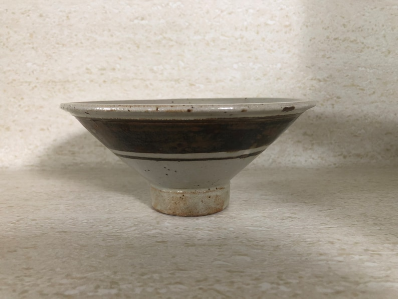 Modern Studio Pottery Footed Bowl