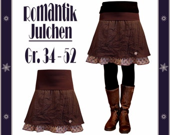 Pattern and tutorial for a wonderful skirt, sizes 34 - 52