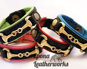 Equestrian Bit Bracelet - Custom Bracelet - Lined Leather Bracelet - Bit Bracelet - Horse Bracelet - Epona Leatherworks