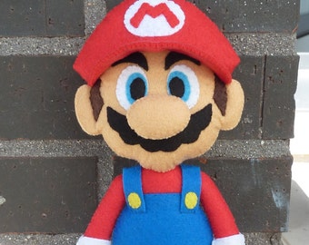 PDF pattern to make a felt Mario Bros.