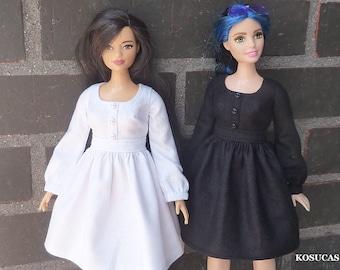 Basic dresses for Barbie curvy dolls.