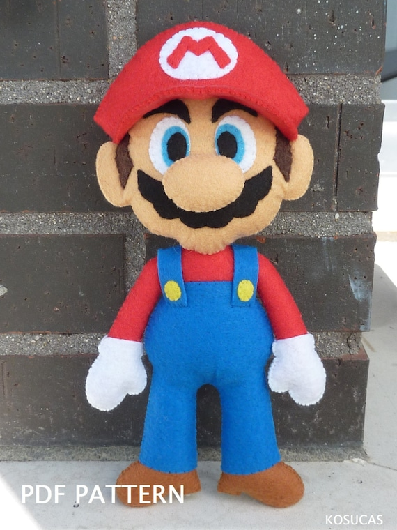 Patrón PDF para hacer un fieltro Mario Bros. | Etsy