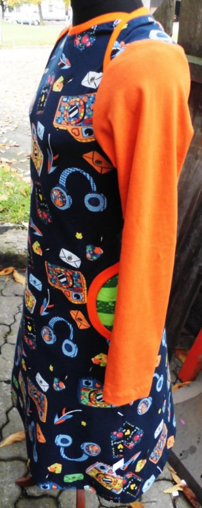 Dress orange dark-blue size 6-7 years
