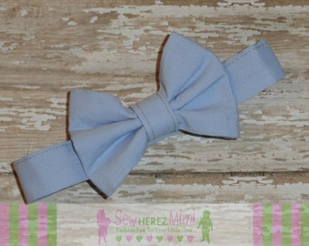 ICE BLUE Ring Bearer Bow Tie Sizes Infant, Child, Youth, Adult