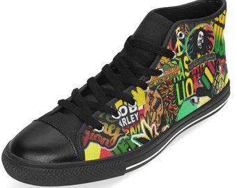 Bob marley shoes | Etsy