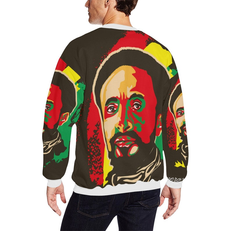 f70991d60ea2b Haile Selassie / Rasta / sweatshirts for men / rasta lion / mens  sweatshirts / Hoodies for men / Custom hoodies / white sweatshirt / jahbiz