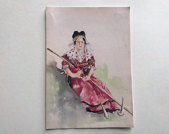 450+Vintage Chinese paintings Watercolor Asian Art Floral Postcards Set 2