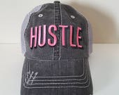 Hustle Embroidered Hat wi...