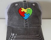 Autism Heart Embroidered ...