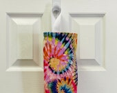 Grocery Bag Holder In Tie Dye Home Decor Fabric