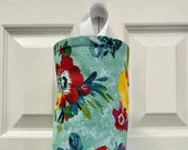 Grocery Bag Holder In Pioneer Woman Sweet Romance Home Decor Fabric