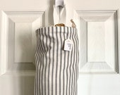 Grocery Bag Holder In Farmhouse Ticking Home Decor Fabric
