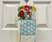 Grocery Bag Holder In Pioneer Woman Patchwork Home Decor Fabric