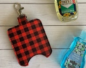 Buffalo Plaid Hand Sanitizer Holder