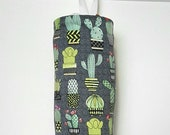 Grocery Bag Holder Made with Cactus Home Decor Fabric by Michael Miller