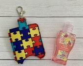 Autism Puzzle Hand Sanitizer Holder