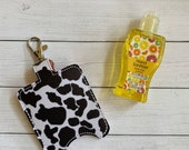 Cow Print Hand Sanitizer Holder