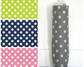 Polka Dot Grocery Bag Holder Made with Choice of Home Decor Fabric